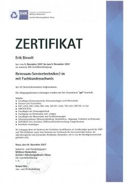 2007 Biesolt IHK Reinraumservicetechniker