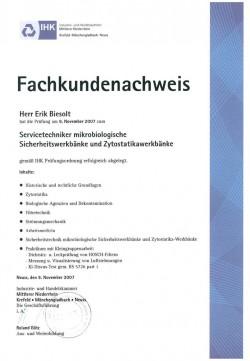 2007 Biesolt IHK Servicetechniker Sicherheitswerkänke