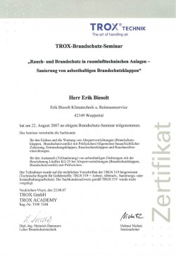 2007 Biesolt TROX Asbesthaltige BSK
