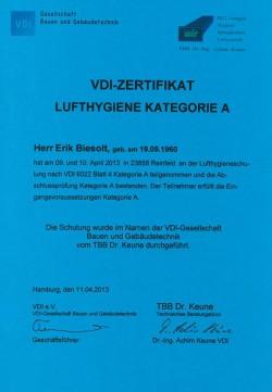 2013 Biesolt VDI 2066 Kategorie A