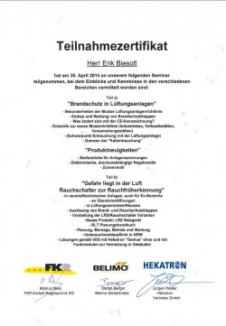2014 Biesolt Belimo Hekatron Brandfrüherkennung