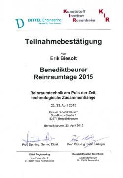 2015 Biesolt Benediktbeurer Reinraumtage