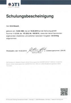 2015 Biesolt Schulung VO (EU) Nr. 185 2010